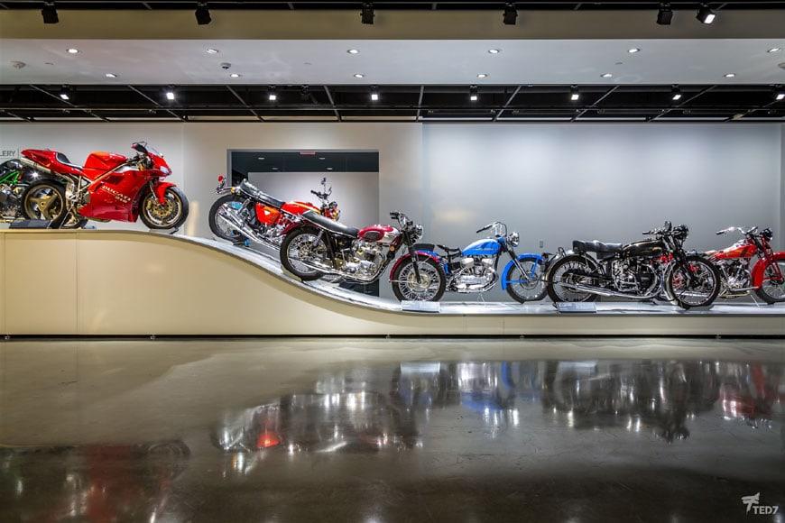 Petersen Automotive Museum Los Angeles motorbikes