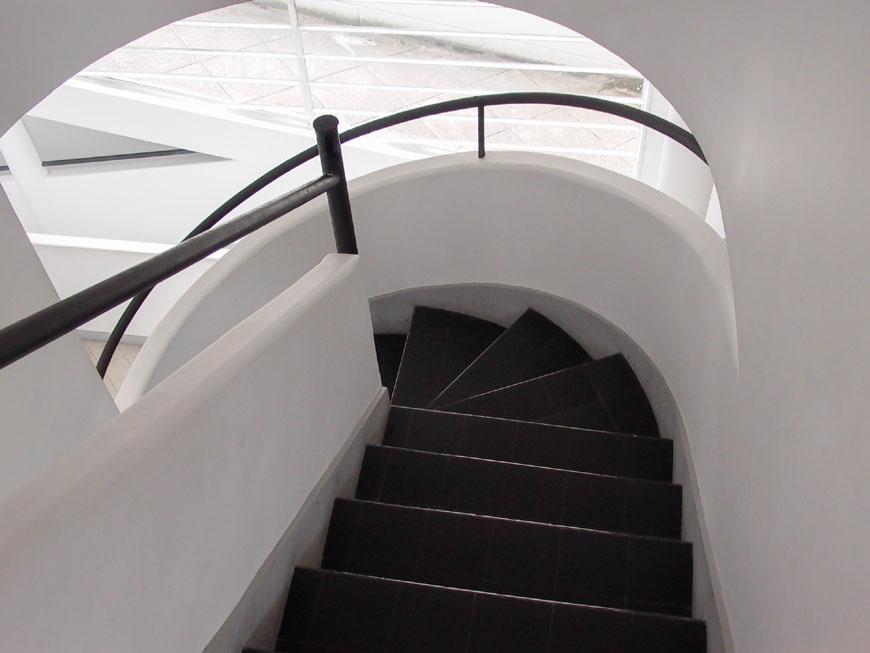 Villa Savoye Le Corbusier staircase Inexhibit