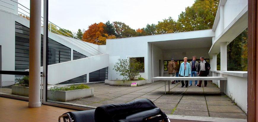 Villa Savoye Le Corbusier terrace Inexhibit