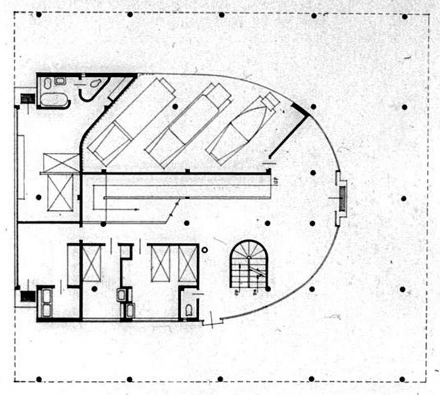 Villa Savoye ground floor plan