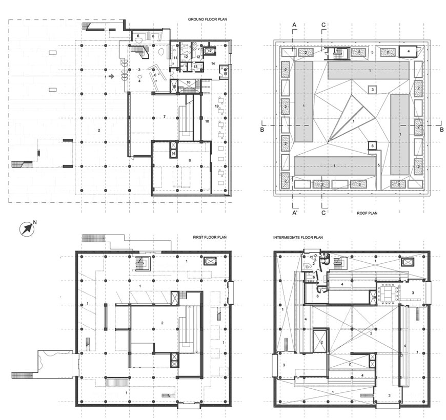 The national museum of western art in tokyo by le corbusier for Western floor plans
