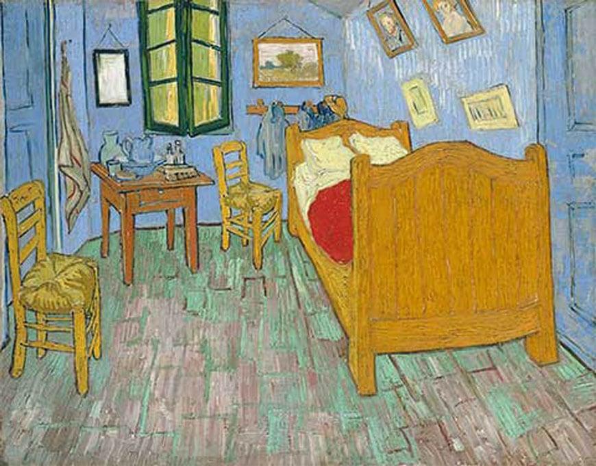 Vincent Van Gogh The Bedroom Art Institute Chicago