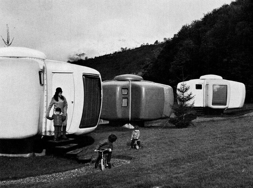 Pré-magasin Prisunic und Ferienhaus : 1967, Architekt Jean Mane