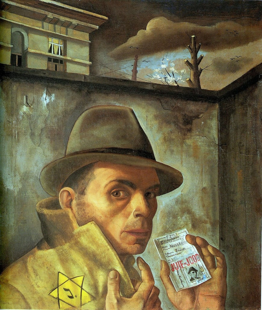 felix-nussbaum-self-portrait-with-jewish-identity-card