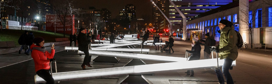Lugano – Lateral Office's luminous seesaws on view from December 3