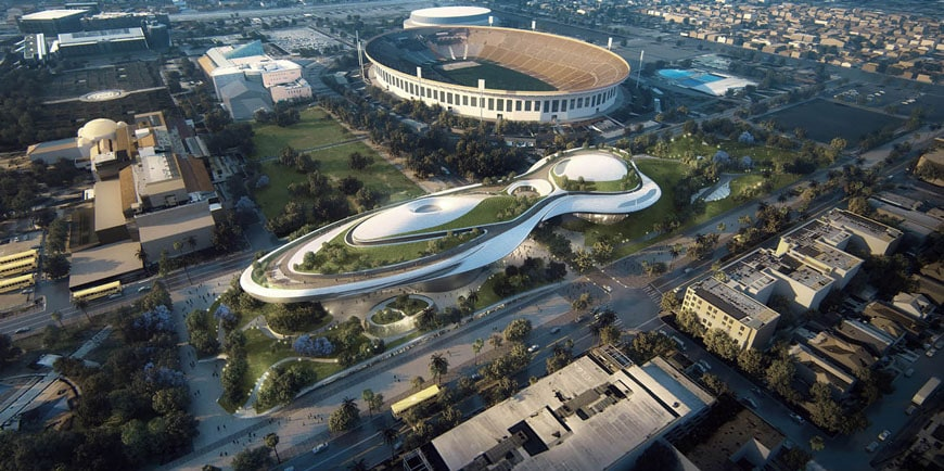 Lucas Museum Narrative Art Los Angeles MAD Architects 02