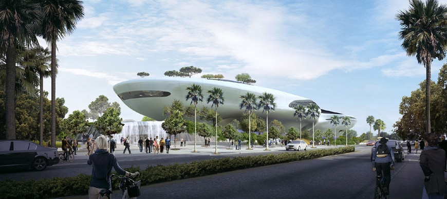 Lucas Museum Narrative Arts Los Angeles 2018 MAD architects 1