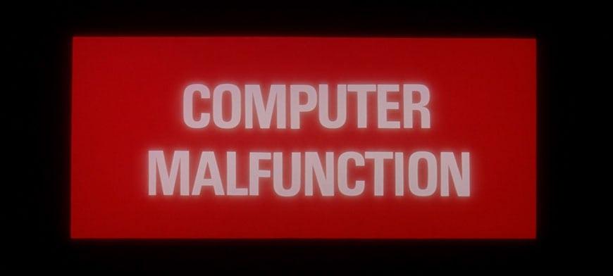 2001 HAL computer malfunction