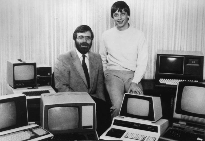 Bill Gates Paul Allen Commodore PET 1981