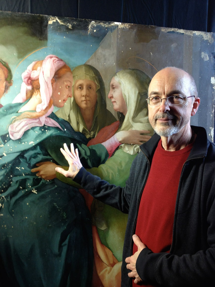Bill-Viola-Palazzo Strozzi-portrait-in-front-of Pontormo