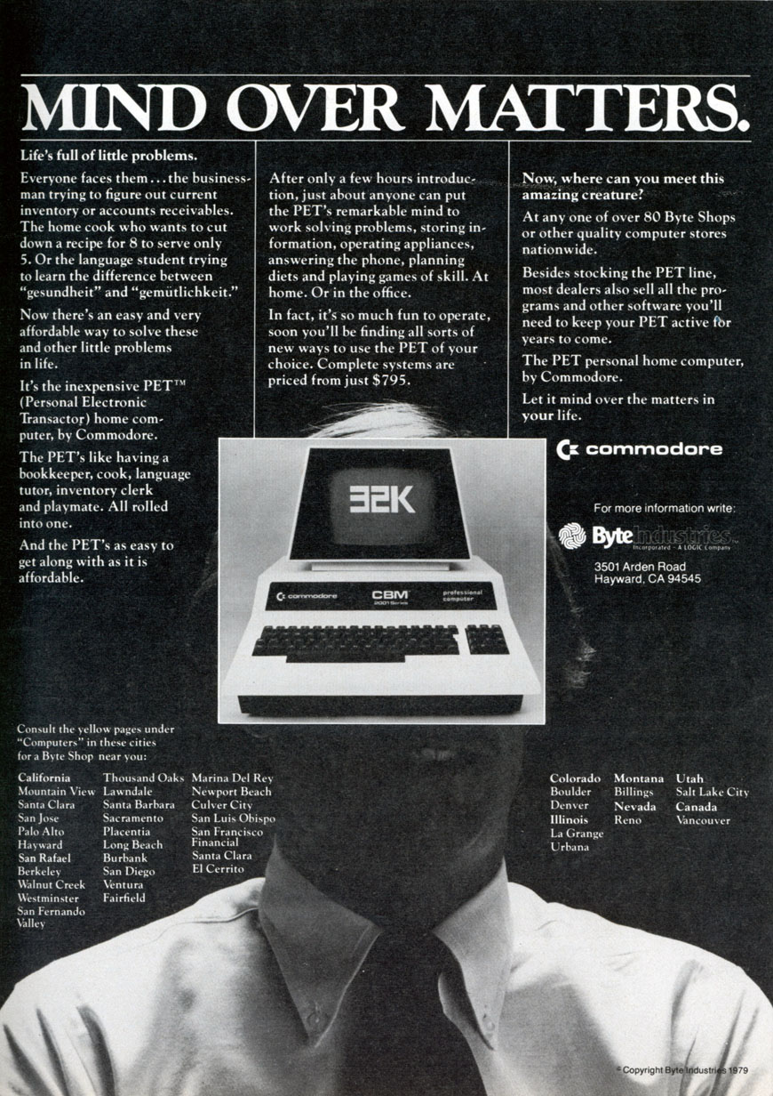 Commodore PET 2001 advert 2