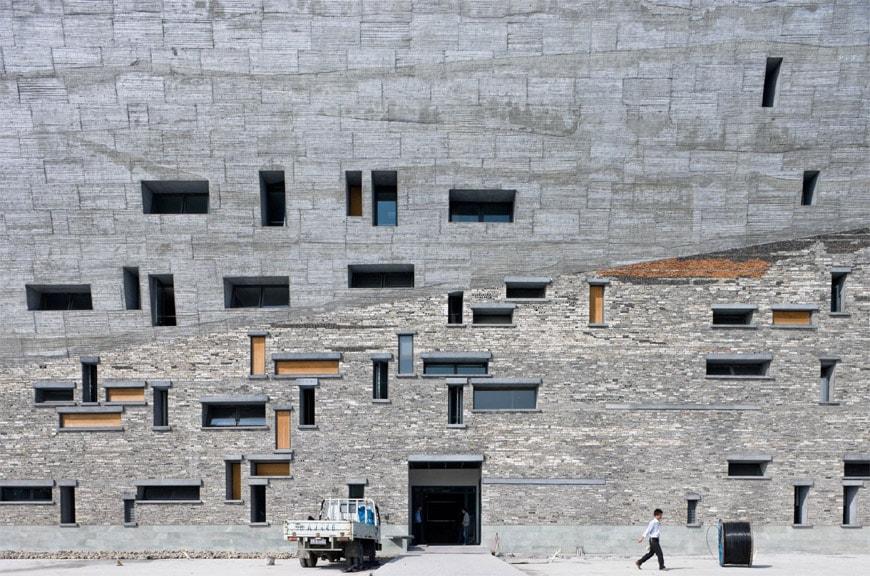 Louisiana-Museum-Wang Shu-Ningbo Museum-facade