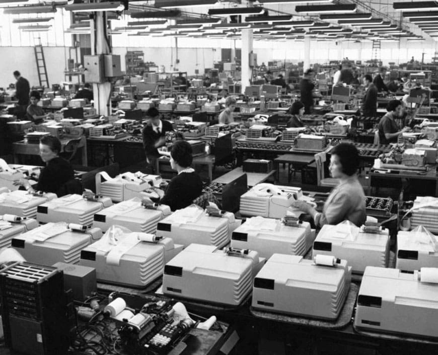 Olivetti Programma 101 production