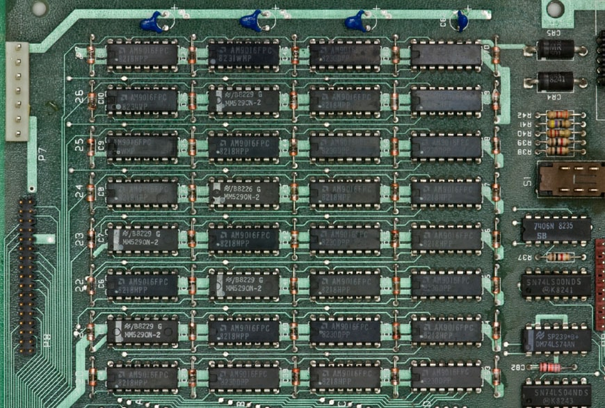 Osborne 1 computer memory chips