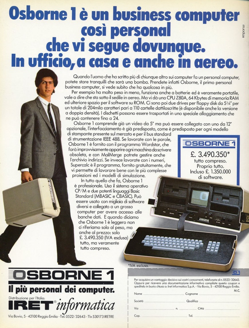 Osborne 1 portable computer advertise 2