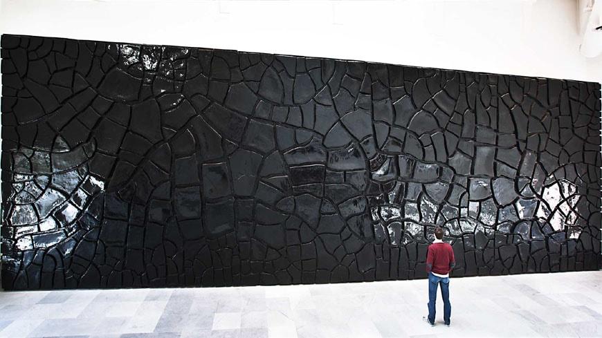 Alberto Burri Grande Cretto Nero Museo Nazionale di Capodimonte Napoli