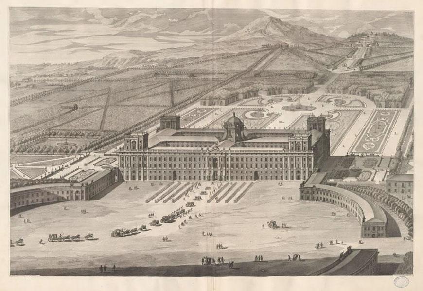 Disegno Reggia di Caserta Vanvitelli Caserta Royal Palace drawing 2