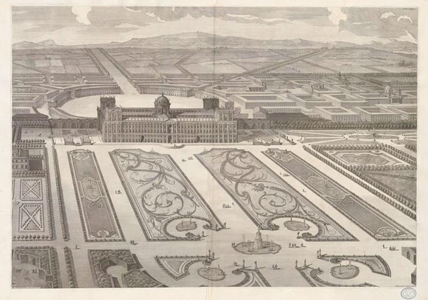 Disegno Reggia di Caserta Vanvitelli Caserta Royal Palace drawing
