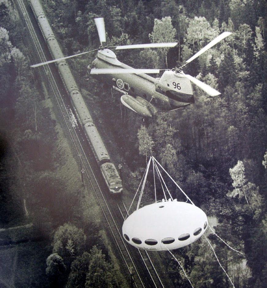 Futuro House Suuonen helicopter