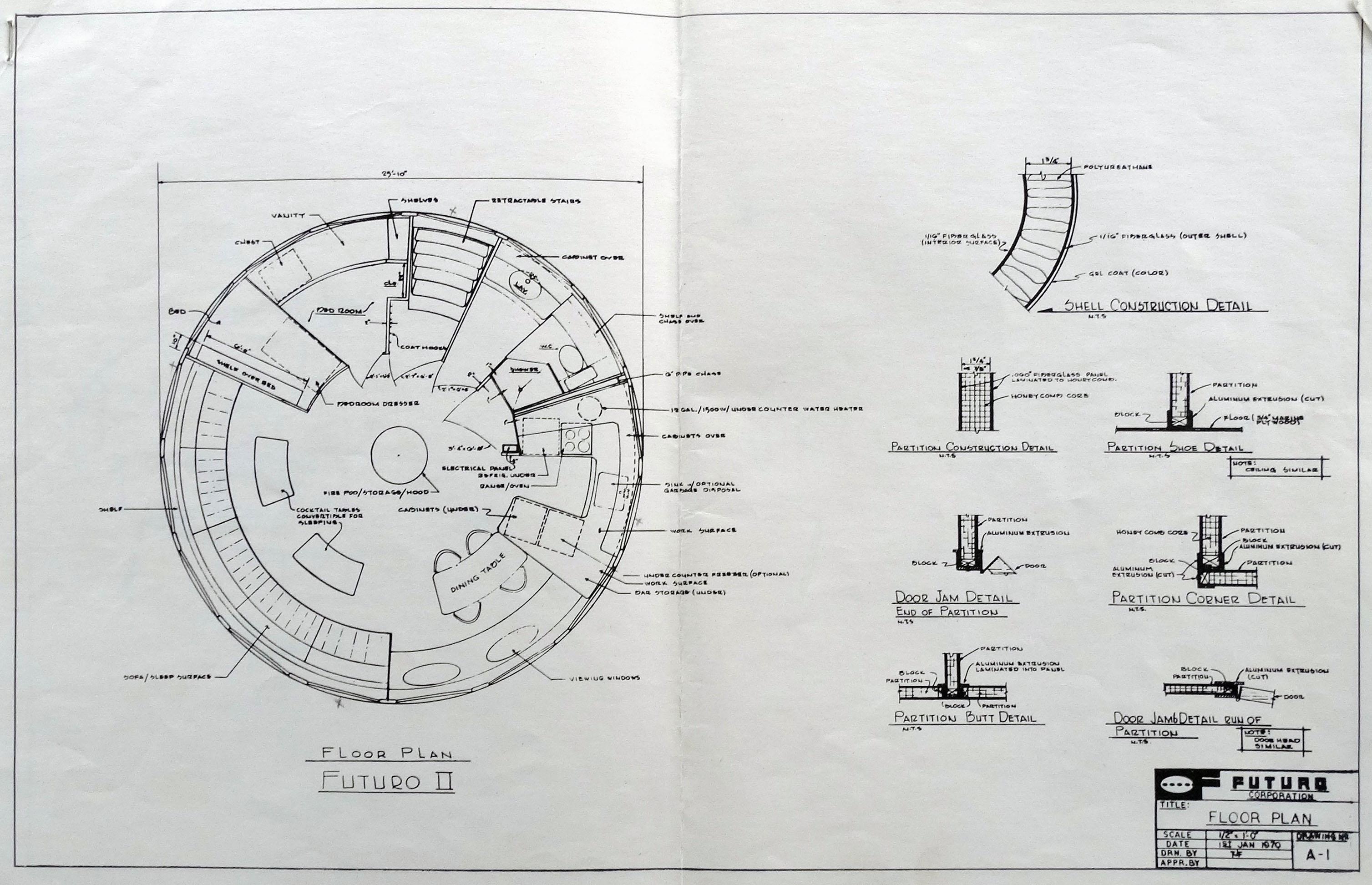 Futuro House plans