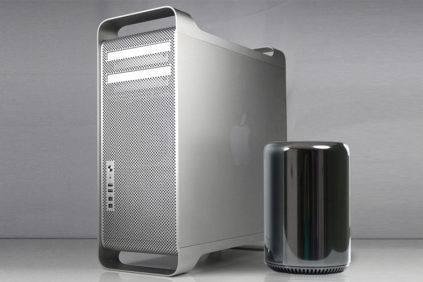 Mac Pro first and second generation size comparison