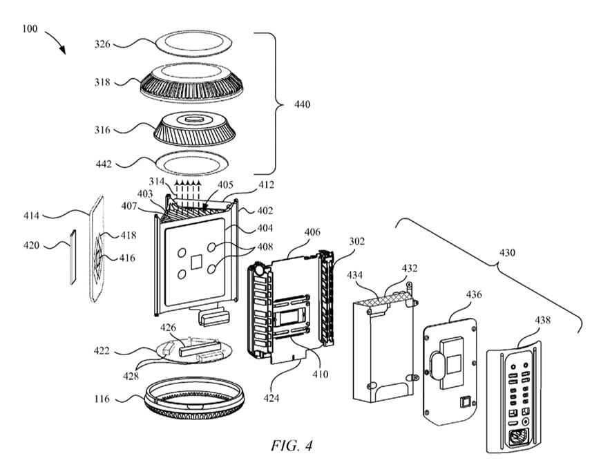 Mac Pro second generation patent scheme