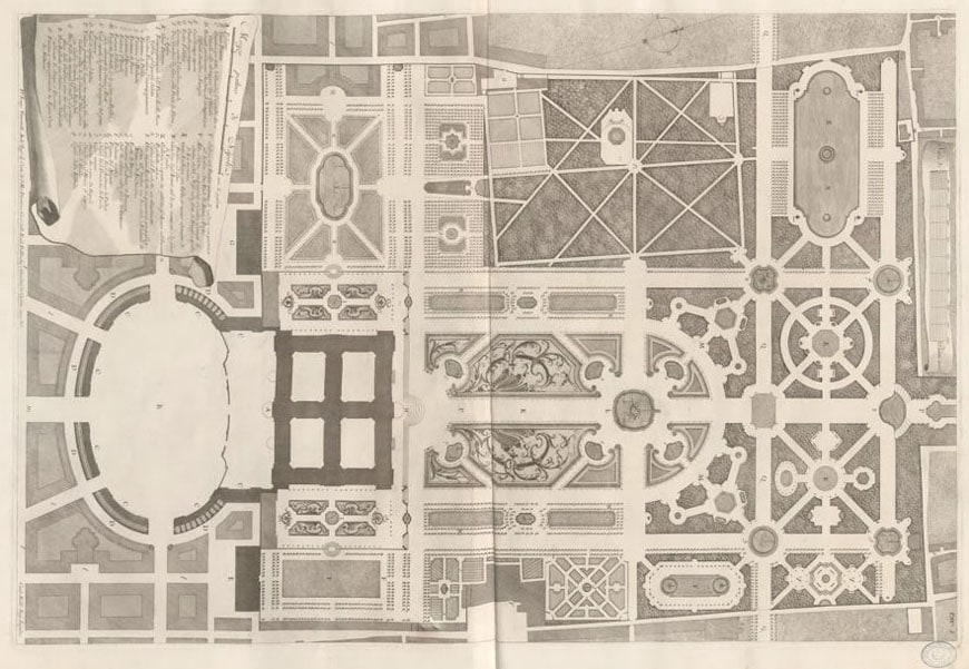Pianta Reggia di Caserta Vanvitelli Caserta Royal Palace general plan