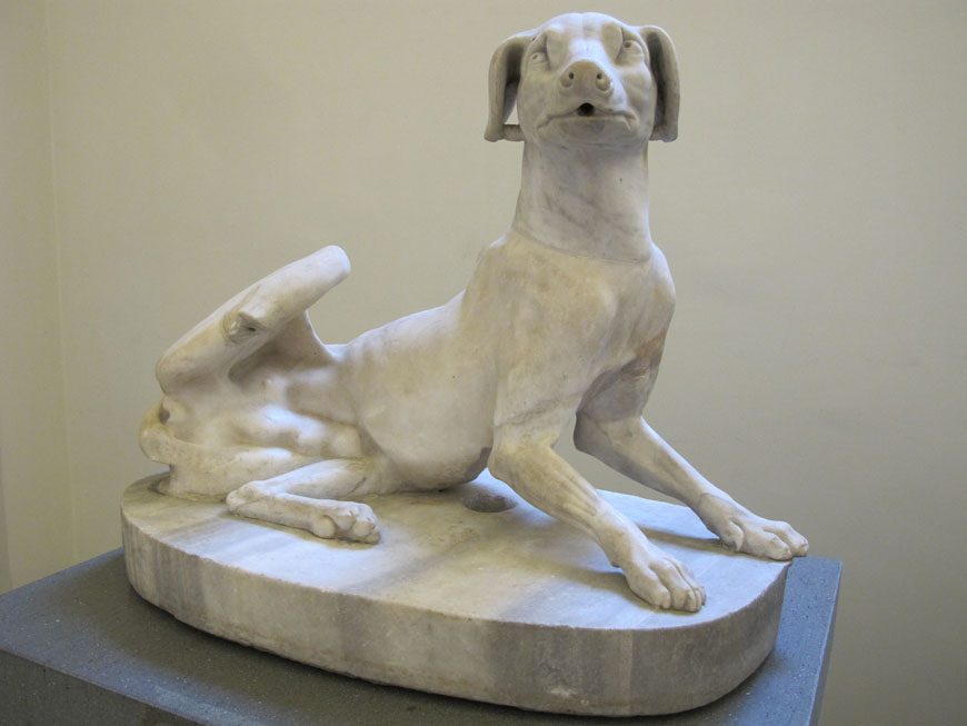 dog sculture Naples Archaeological Museum 10