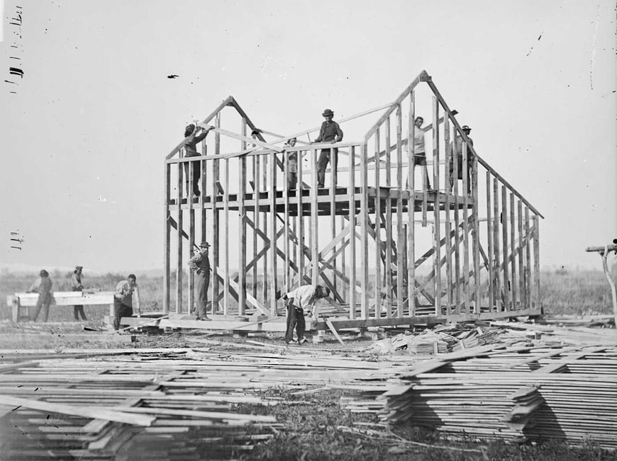 Balloon frame house Nebraska 1877