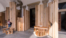 Benedetta Tagliabue EMBT Too good to waste installation American hardwood Milano 1