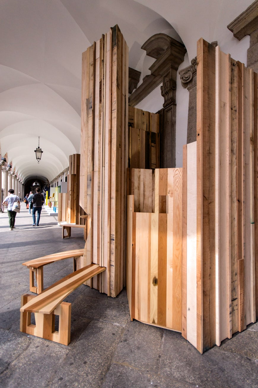 Benedetta Tagliabue EMBT Too good to waste installation American hardwood Milan 2