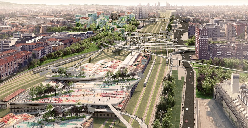 EMBT Miralles Tagliabue Greco rail yard Milan redevelopment project1