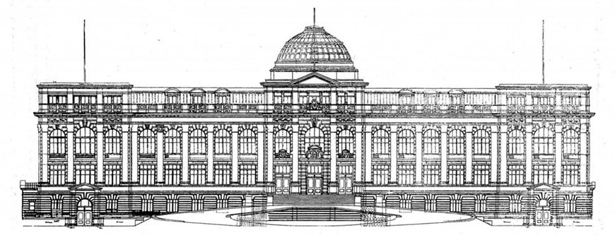 New York Botanical Garden Bronx Conservatory building facade