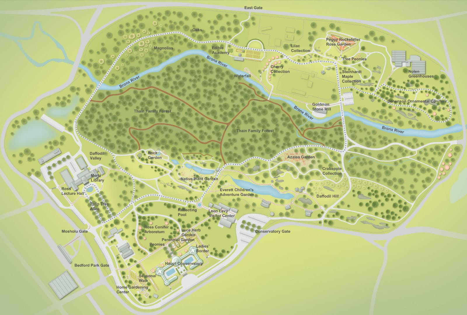 New York Botanical Garden map