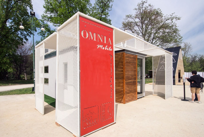 Omnia Mobile-Tiny House.housing unit and emergency shelter Milan Design Week 2017 Inexhibit