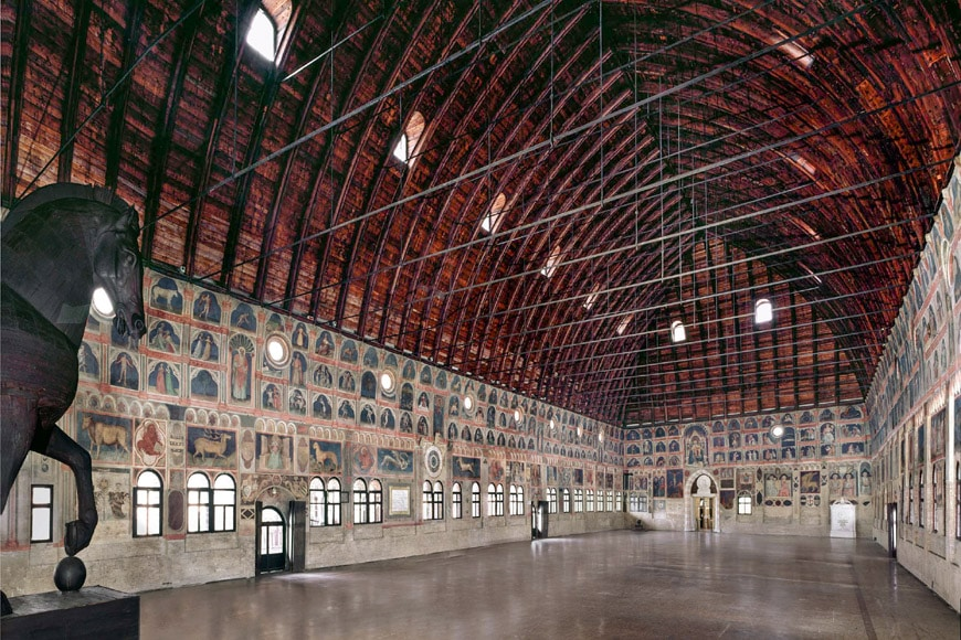 Palazzo Ragione Padua timber vault