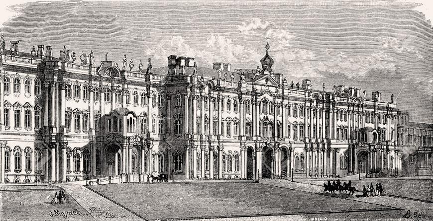 Saint-Petersburg-Winter-Palace-drawing-1869