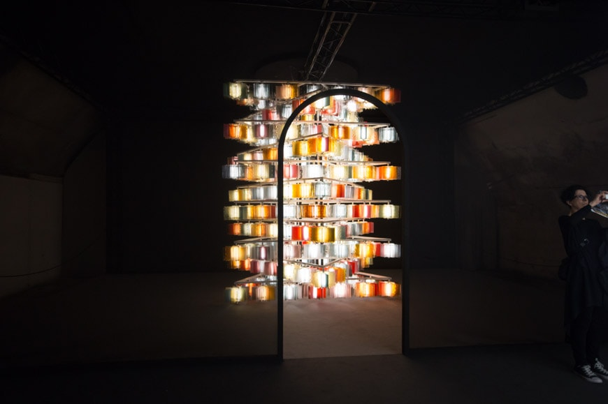 Salviati glass light fixtures Milan Design Week Inexhibit 2