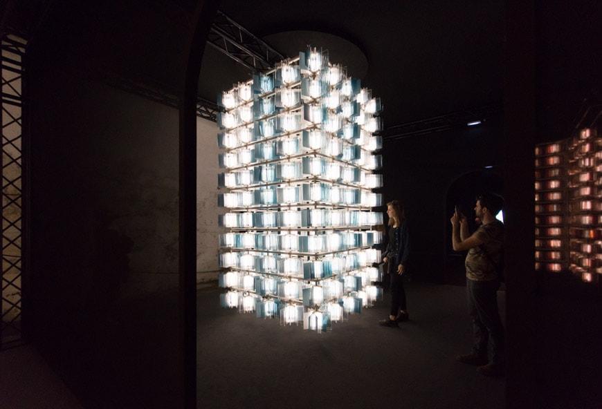 Salviati glass light fixtures Milan Design Week Inexhibit 5
