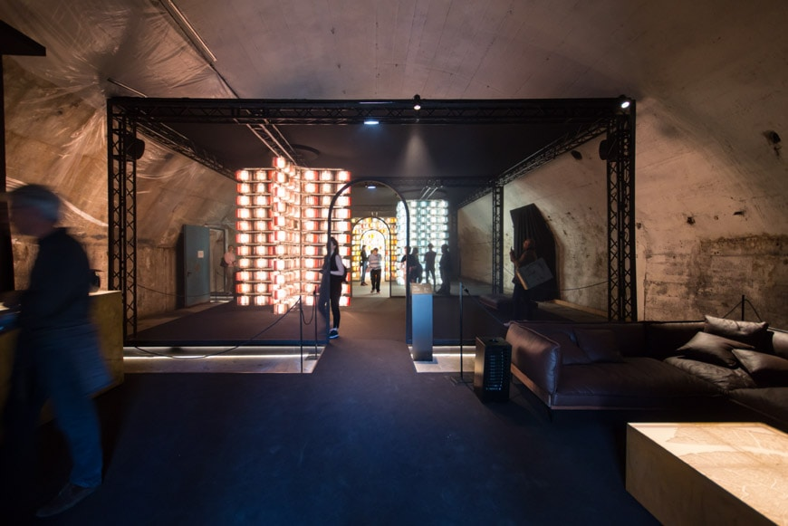 Salviati glass light fixtures Milan Design Week Inexhibit 8