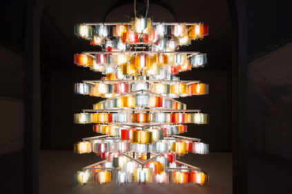 Nichetto & Gorham create stunning light installations made in glass for Salviati