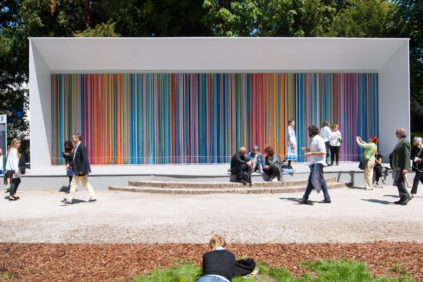 Ian Davenport Giardini Colourfall fro Swatch at Venice Art Biennale 2017