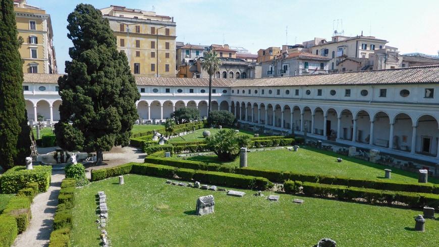 Terme di Diocleziano Rome Diocletian Baths MIchelangelo Cloister 2