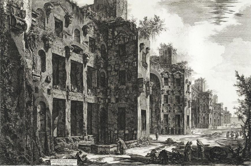 Terme di Diocleziano Rome Diocletian Baths Piranesi