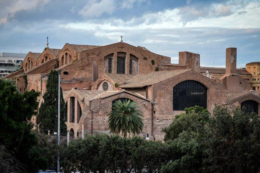 Terme di Diocleziano Rome Diocletian Baths exterior 1
