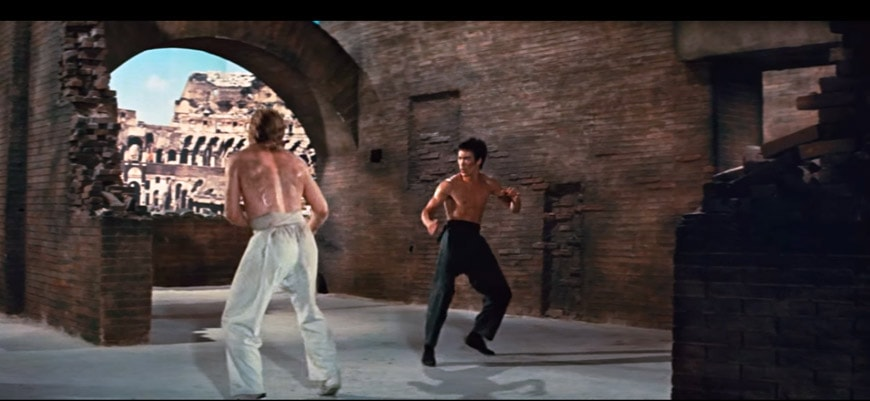 Bruce Lee Way of the Dragons Colosseum scene