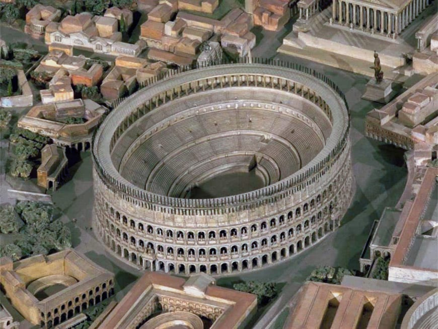 Colosseum Flavian Amphitheater Rome architectural model