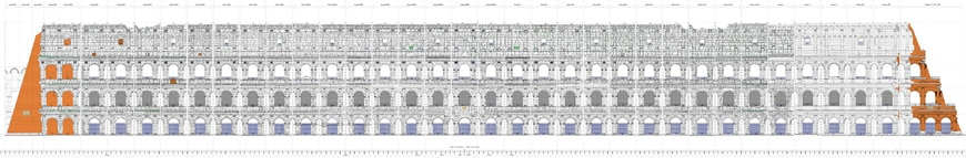 Colosseum-Flavian-Amphitheater-Rome-elevation