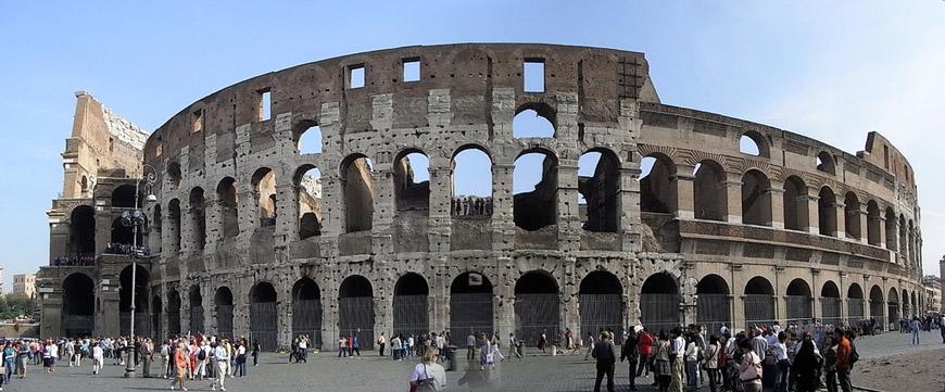 Colosseum Flavian Amphitheater Rome exterior 5