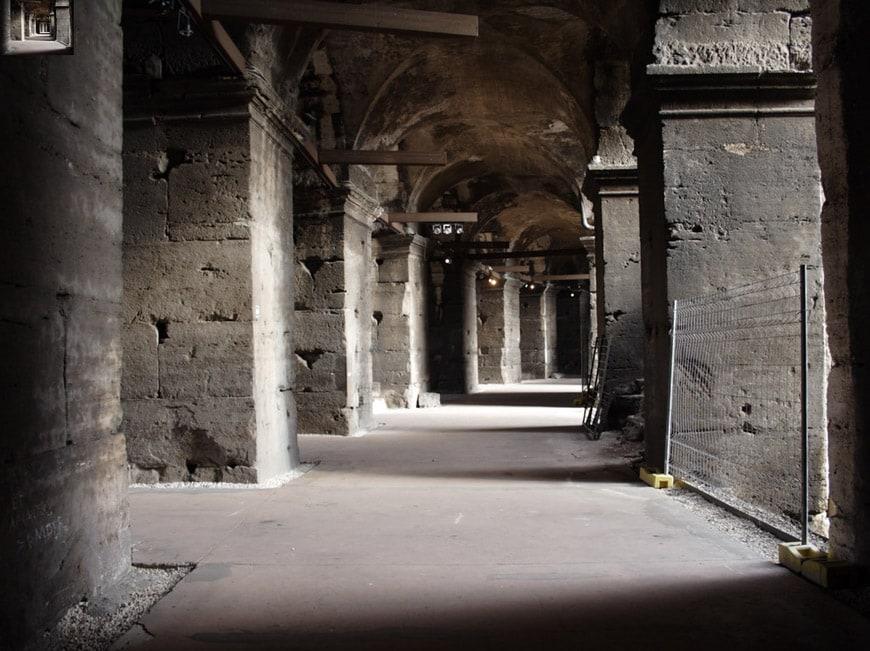 Colosseum Flavian Amphitheater Rome interior 5